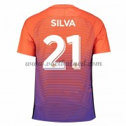Voetbalshirts Clubs Manchester City 2016-17 Silva 21 Third Shirt..