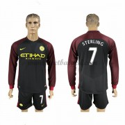 Voetbalshirts Clubs Manchester City 2016-17 Sterling 7 Uitshirt Lange Mouw..