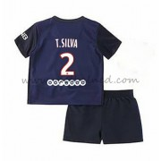 Voetbaltenue Kind Paris Saint Germain PSG 2016-17 T. Silva 2 Thuisshirt..