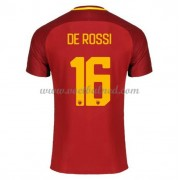 Voetbalshirts Clubs AS Roma 2017-18 De Rossi 16 Thuisshirt..