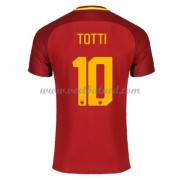 Voetbalshirts Clubs AS Roma 2017-18 Totti 10 Thuisshirt..