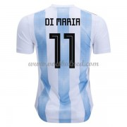 Voetbalshirts Argentinië WK 2018 Di Maria 11 Thuisshirt..