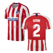 Voetbalshirts Clubs Atletico Madrid 2019-20 Diego Godin 2 Thuisshirt