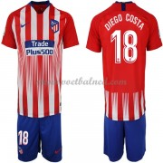 Voetbaltenue Kind Atletico Madrid 2018-19 Diego Costa 18 Thuisshirt..