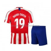 Voetbaltenue Kind Atletico Madrid 2019-20 Diego Costa 19 Thuisshirt..