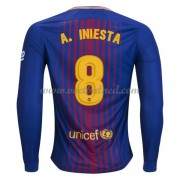 Voetbalshirts Clubs Barcelona 2017-18 A. Iniesta 8 Thuisshirt Lange Mouw..