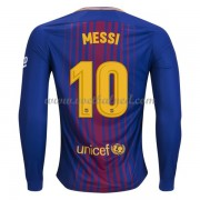 Voetbalshirts Clubs Barcelona 2017-18 Lionel Messi 10 Thuisshirt Lange Mouw..
