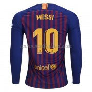 Voetbalshirts Clubs Barcelona 2018-19 Lionel Messi 10 Thuisshirt Lange Mouw