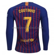 Voetbalshirts Clubs Barcelona 2018-19 Philippe Coutinho 7 Thuisshirt Lange Mouw..