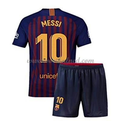 Voetbaltenue Kind Barcelona 2018-19 Lionel Messi 10 Thuisshirt