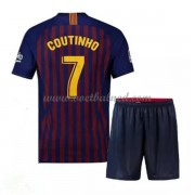 Voetbaltenue Kind Barcelona 2018-19 Philippe Coutinho 7 Thuisshirt