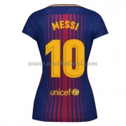 Goedkope Voetbalshirts Dames Barcelona 2017-18 Lionel Messi 10 Thuisshirt..