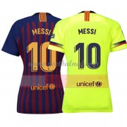 Goedkope Voetbalshirts Dames Barcelona 2018-19 Lionel Messi 10 Thuisshirt