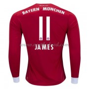 Voetbalshirts Clubs Bayern München 2017-18 James Rodriguez 11 Thuisshirt Lange Mouw..