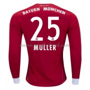Voetbalshirts Clubs Bayern München 2017-18 Thomas Muller 25 Thuisshirt Lange Mouw..