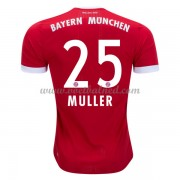 Voetbalshirts Clubs Bayern München 2017-18 Thomas Muller 25 Thuisshirt..