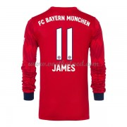 Voetbalshirts Clubs Bayern München 2018-19 James Rodriguez 11 Thuisshirt Lange Mouw..