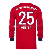 Voetbalshirts Clubs Bayern München 2018-19 Thomas Muller 25 Thuisshirt Lange Mouw..