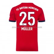 Voetbalshirts Clubs Bayern München 2018-19 Thomas Muller 25 Thuisshirt..