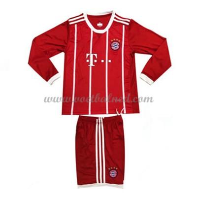 Voetbaltenue Kind Bayern München 2017-18 Thuisshirt Lange Mouw
