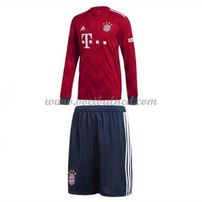 Voetbaltenue Kind Bayern München 2018-19 Thuisshirt Lange Mouw