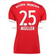 Goedkope Voetbalshirts Dames Bayern München 2017-18 Thomas Muller 25 Thuisshirt..