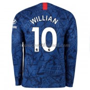 Voetbalshirts Clubs Chelsea 2019-20 Willian Borges da Silva 10 Thuisshirt Lange Mouw..