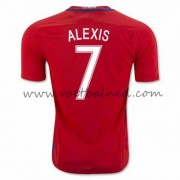 Voetbaltenue Chili Nationale Elftal 2016 Alexis Sanchez 7 Thuisshirt..