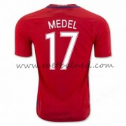 Voetbaltenue Chili Nationale Elftal 2016 Gary Medel 17 Thuisshirt..