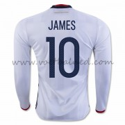 Voetbaltenue Colombia Nationale Elftal 2016 James Rodriguez 10 Thuisshirt Lange Mouw..