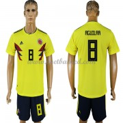 Voetbaltenue Colombia 2018 Abel Aguilar 8 Thuisshirt..