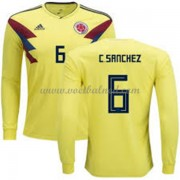 Voetbalshirts Colombia WK 2018 Carlos Sanchez 6 Thuisshirt Lange Mouw..