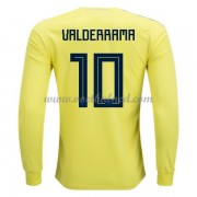 Voetbalshirts Colombia WK 2018 Carlos Valderrama 10 Thuisshirt Lange Mouw..
