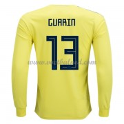 Voetbalshirts Colombia WK 2018 FRooddy Guarin 13 Thuisshirt Lange Mouw..