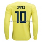 Voetbalshirts Colombia WK 2018 James Rodriguez 10 Thuisshirt Lange Mouw..
