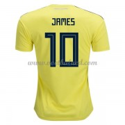 Voetbalshirts Colombia WK 2018 James Rodriguez 10 Thuisshirt..