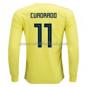 Voetbalshirts Colombia WK 2018 Juan Cuadrado 11 Thuisshirt Lange Mouw..