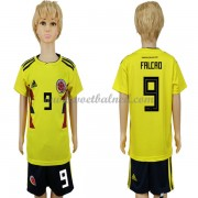 Voetbaltenue Kind Colombia 2018 Radamel Falcao 9 Thuisshirt..