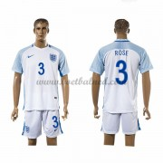 Voetbaltenue England Nationale Elftal 2016 Danny Rose 3 Thuisshirt..