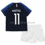 Voetbaltenue Kind Frankrijk 2018 Anthony Martial 11 Thuisshirt..