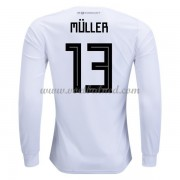 Voetbaltenue Duitsland 2018 Thomas Muller 13 Thuisshirt Lange Mouw..