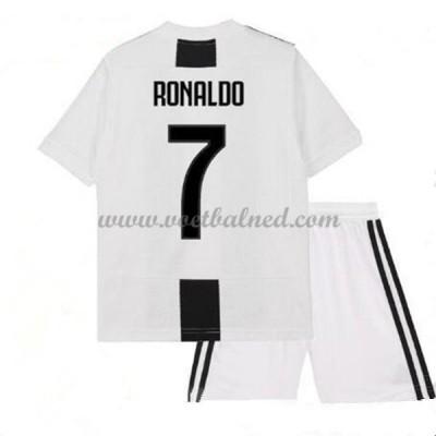 Voetbaltenue Kind Juventus 2018-19 Cristiano Ronaldo 7 Thuisshirt