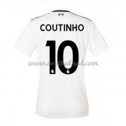 Goedkope Voetbalshirts Dames Liverpool 2017-18 Philippe Coutinho 10 Uitshirt..