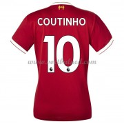 Goedkope Voetbalshirts Dames Liverpool 2017-18 Philippe Coutinho 10 Thuisshirt..