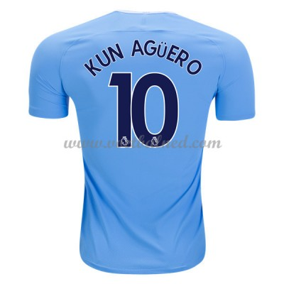 Voetbalshirts Clubs Manchester City 2017-18 Kun Aguero 10 Thuisshirt