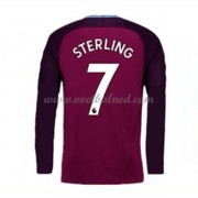 Voetbalshirts Clubs Manchester City 2017-18 Raheem Sterling 7 Uitshirt Lange Mouw..