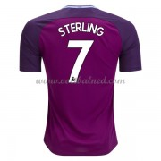 Voetbalshirts Clubs Manchester City 2017-18 Raheem Sterling 7 Uitshirt..