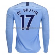 Voetbalshirts Clubs Manchester City 2018-19 De Bruyne 17 Thuisshirt Lange Mouw