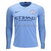 Voetbalshirts Clubs Manchester City 2018-19 Thuisshirt Lange Mouw..