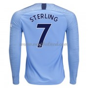 Voetbalshirts Clubs Manchester City 2018-19 Raheem Sterling 7 Thuisshirt Lange Mouw..